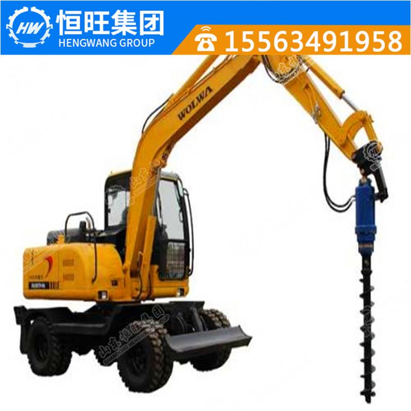 供应挖机改螺旋钻机 挖机改光伏打桩机 挖