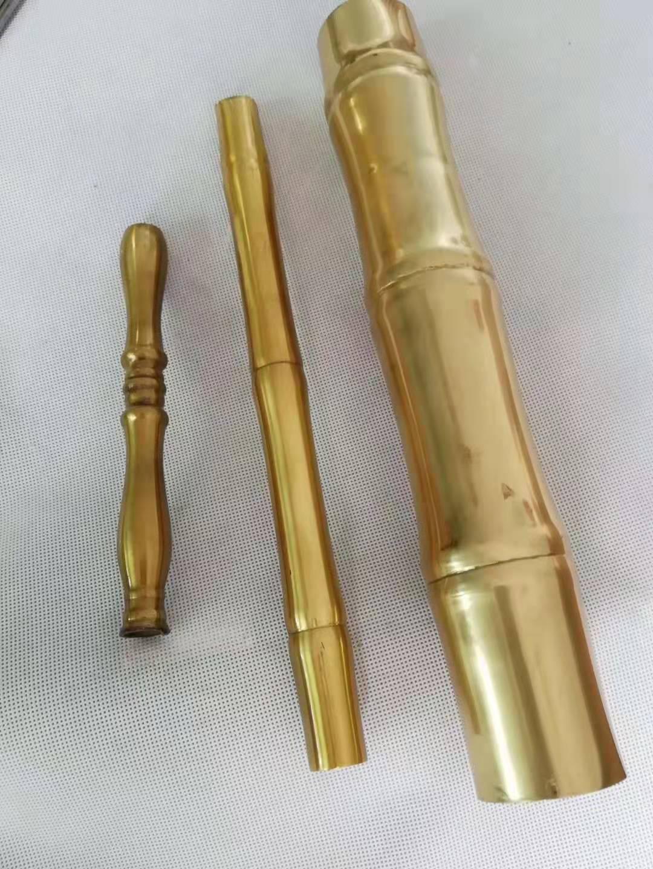 供应h65花纹黄铜管 竹节铜管加工