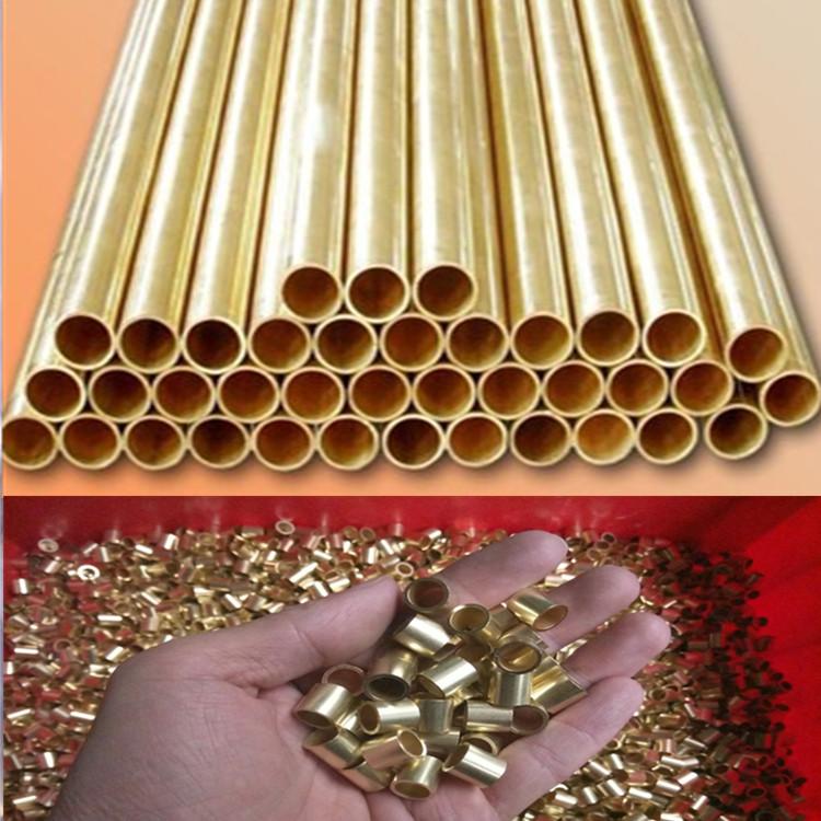 供应h65薄壁黄铜管 黄铜方管 毛细铜管