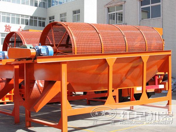 时产15吨沙子滚筒筛型号_多少钱一台 配