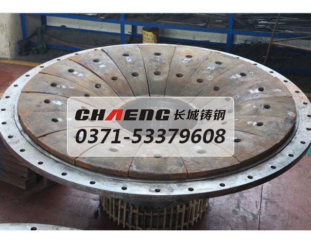 供应格子球磨机耐磨端盖 大型铸钢件厂家